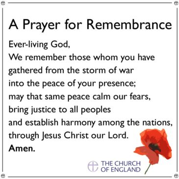 A Prayer for Remembrance