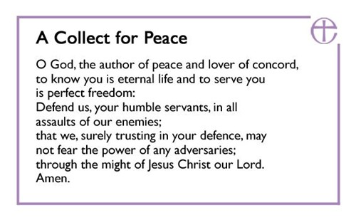 A Collect for Peace