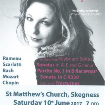 Jill Crossland Piano – Saturday 10th June 2017 St Matthew's Church, Skegness