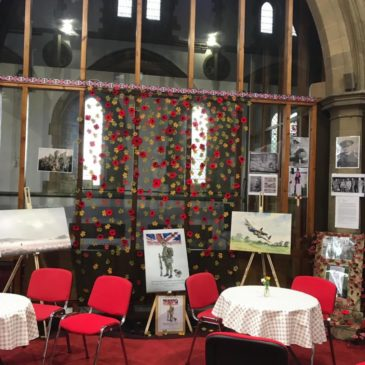 Remembrance Day Poppy Display