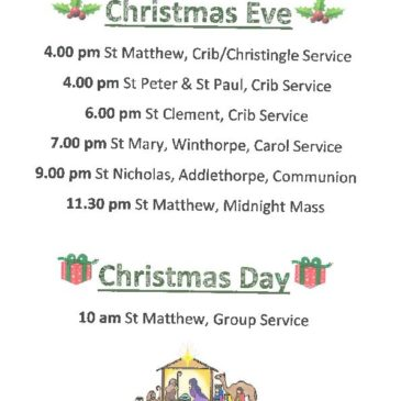 Skegness Christmas Services 2018