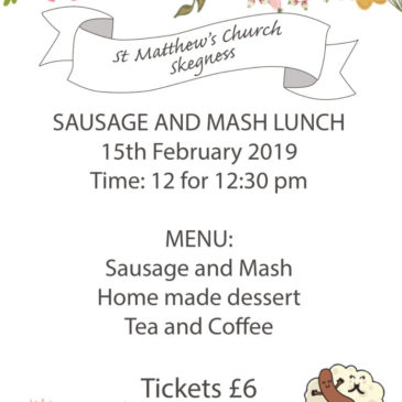 Sausage and Mash Lunch Feb 15th