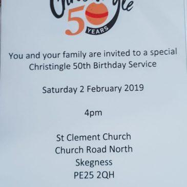 Christingle 50th Birthday Service Feb 2nd
